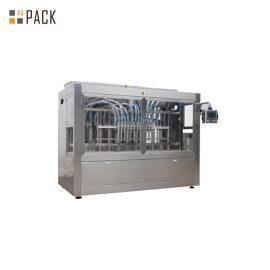 בקרת PLC מתוזמנת מכונת מילוי נוזלים אוטומטית לחלוטין 16 ראשים לכימיקלים חקלאיים