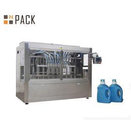 קו מילוי בקבוקים תעשייתי / קו מילוי אבקת כביסה עם מנוע סרוו ומסך מגע