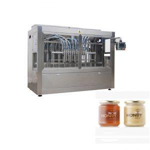 בקרת PLC 8 חרירים למילוי הדבק, מכונת מילוי צנצנות ריבה 400 גרם