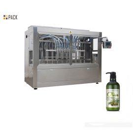 קו בקבוק שמפו אוטומטי עם מכונת מילוי סרוו, מכונת תיוג צדדים כפולים
