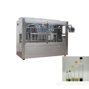 קו מילוי בקבוק נוזלי עם מכונת מכסת בקבוק ומכונת תיוג כפול