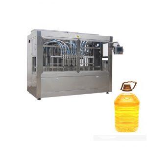 מכונת אריזת מכונת מילוי להדבקה בקבוק לחיות מחמד לשמן בישול 350ML-5L