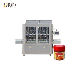 מכונת מילוי רטבים להתנגדות שחיקה מכונת מילוי ריבה 304 נירוסטה