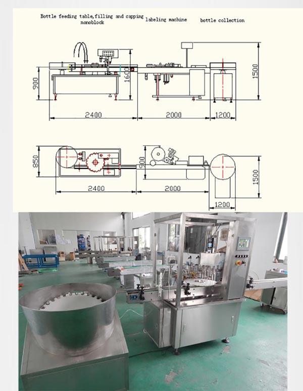 קו ייצור מילוי נוזל E-Liquid הפסקת מכסה