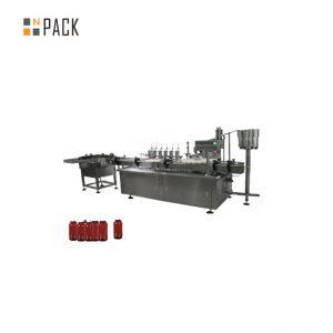 מכונת מילוי הדבק לבקרת מנוע סרוו, מכונת מילוי קרם קוסמטיקה צנצנת 5 גרם -100 גרם