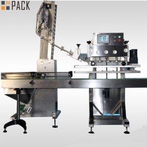 """מכונה מכסת מכסה לבקבוקי הדברה סיבוביים בשיעור מוסמך גבוהה לבקבוקי הדברה של 50 מ""""ל -1 ליטר 120 CPM"""